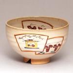 奈良絵窯変茶碗「扇面」
