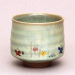 奈良絵筒茶碗
