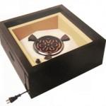 野々田式置炉 丸型熱板(五徳付) 黒