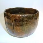 大樋焼飴釉切立茶碗