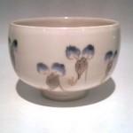 色絵 露草図 小茶碗