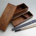 箸、箸箱とキハダ拭漆弁当箱