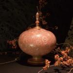 赤絵牡丹唐草文 高香炉